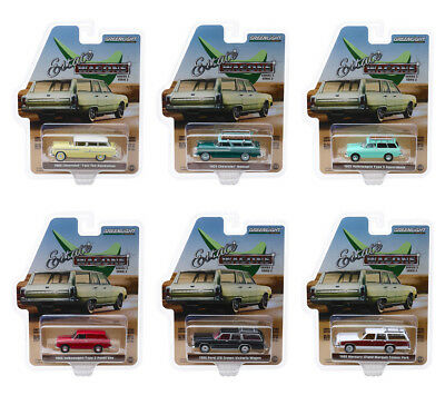 Estate Wagons Release 2, Set Of 6 Cars 1/64 Diecast Models By Greenlight 29930