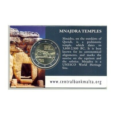 MALTE 2018 2 EURO Commemorative TEMPLE MNAJDRA COIN CARD