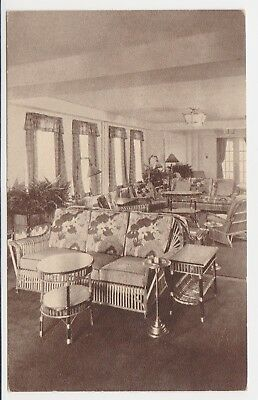 HOTEL LUDY – S. CAROLINA AVE. – ATLANTIC CITY, N.J. - SOLARIUM – circa 1930's