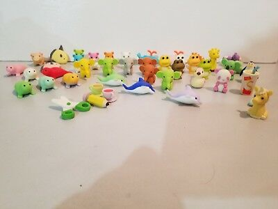 Lot of 45 pieces Iwako Japanese erasers Animal Jungle / Ocean & other. Excellent