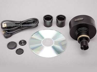 AmScope 10MP Microscope Digital Camera with Focusable Lens and Calibration Kit
