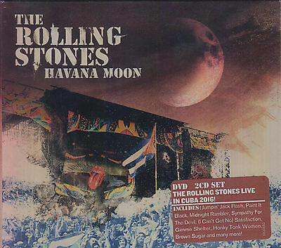 The Rolling Stones NEW Havana Moon Includes 2 CD's & 1 DVD **** NOW SHIPPING !!!