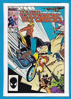 The New Defenders #145_July 1985_Near Mint Minus_Iceman_Beast_Angel_Valkyrie!