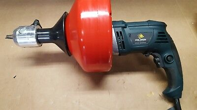 """Steel Dragon Tools® 62A Drain Cleaning Machine with 5/16"""" x 35' Snake Cable"""