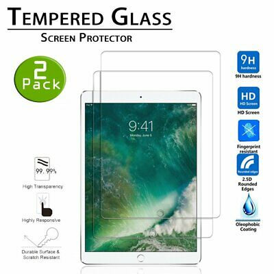 (Lot 2)Real Tempered Glass Guard Screen Protector for Apple iPad 5th 6th Air 1 2