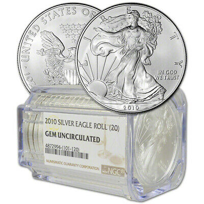 Roll of 20 - 2010 American Silver Eagle - NGC Gem Uncirculated
