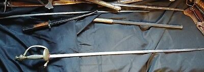 Imperial to Pre WWI German Court Sword Folding Clamshell Guard E Sachs Flieferan