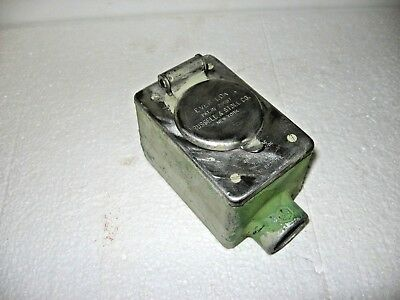 """Russellstoll EVER-LOK 3P4W Female Receptacle/ Crouse Hinds FD2 3/4"""" Condulet Box"""