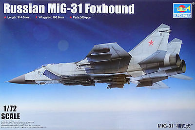 TRUMPETER® 01679 Russian MiG-31 Foxhound in 1:72