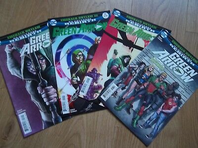 Green Arrow #12,15,16,17 from 2017 DC rebirth comics lot bundle Emerald outlaw