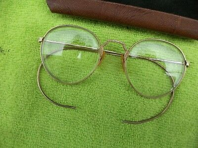 Vintage  B&L 1/10 12K Gold Rimmed Glasses from 1940s Machinist Tool Box