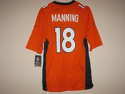 official photos 4c21c 7f9be NEW NIKE PEYTON Manning Denver Broncos Orange Color Rush Jersey Mens Small S