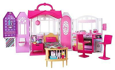 Barbie Doll Glam Getaway House Playset With Full Furniture Set Girls