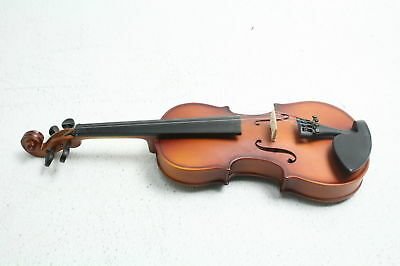 Mendini 1/8 MV300 Solid Wood Satin Antique Violin with Hard Case with Rest/Bow