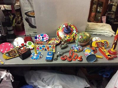 Lot 29**Vintage Metal - Tin Toys*Halloween - Holiday Noisemakers & Misc Items