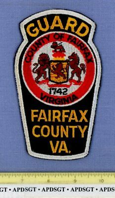 FAIRFAX COUNTY GUARD (Old Vintage) VIRGINIA Sheriff Police Patch CHEESECLOTH