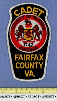 FAIRFAX COUNTY CADET (Old Vintage) VIRGINIA School Police Patch CHEESECLOTH AUX