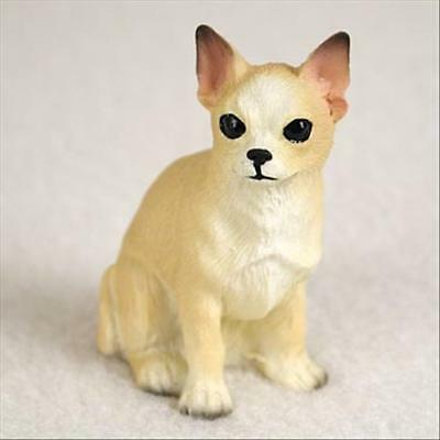 Chihuahua Tan White Dog Tiny One Miniature Small Hand Painted Figurine