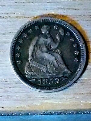 1853 w/arrows 90% silver seated Liberty half dime, Liberty is visible on Shield!