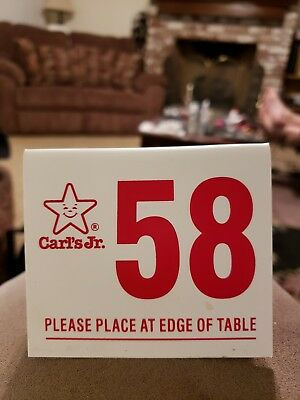 Carl's Jr. Table Number 58 Hot Rod Rat Rod Sports Classic Car Muscle Car 1958