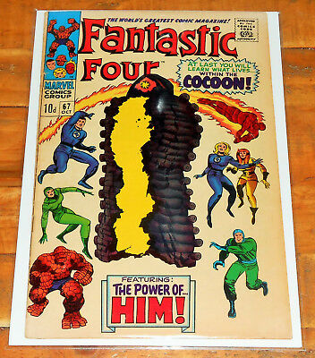 FANTASTIC FOUR no.67 Marvel Comics 1967 key 1st app HIM! ADAM WARLOCK Jack Kirby