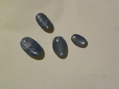 Kyanite Cat's Eye 4 Cabs Cabochons 22.895 Carats