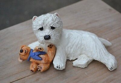 Westie .  .Handsculpted ceramic .. OOAK .LOOK!
