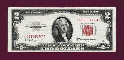Fr.1512  $2  1953C  STAR  LEGAL TENDER RED SEAL UNITED STATES NOTE # *01902686 A
