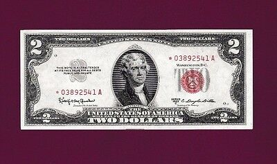 Fr.1512   $2   1953 C  STAR  LEGAL TENDER UNITED STATES NOTE SN * 03892541 A GEM