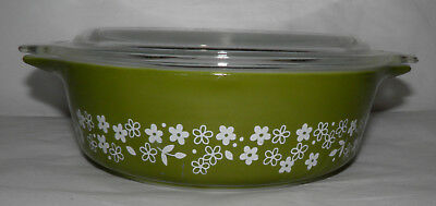 Vintage PYREX SPRING BLOSSOM Covered Casserole Dish 471-B 1 Pint