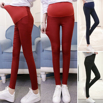 Pregnant Pants Trousers Lady Long Skinny Stretchy High waist Plus Size Beauty