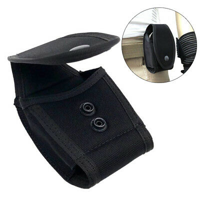 Adjustable Height Nylon Black Quick Release Handcuff Belt Guard Case Bag Pouch
