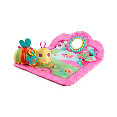 Bright Starts Flowers & Friends Prop Mat Activity Tummy Time With Mirror