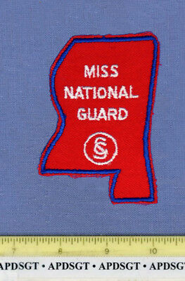 MISSISSIPPI NATIONAL GUARD (Old Vintage) Military Police Patch STATE SHAPE