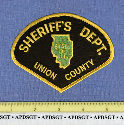 UNION COUNTY SHERIFF ILLINOIS Police Patch STATE SHAPE OUTLINE