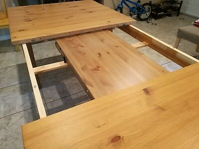 Ikea Extendable Dining Table Stornäs, antique stain