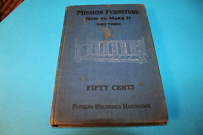 Book:  Mission Furniture How To Make It    1912