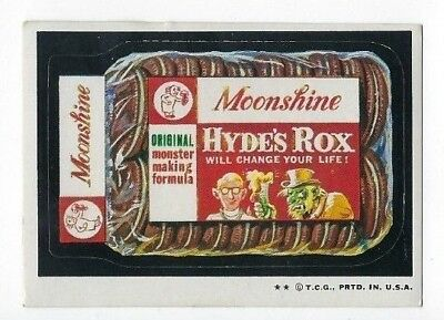 1973 Topps Wacky Packages 4th Series 4 MOONSHINE HYDE'S ROX high-gloss ex-