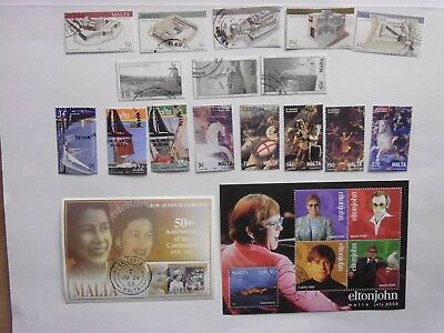 MALTA: 2003 Used Commemoratives 16vals & 2sheets Forts to Windmills Sg1294/1339