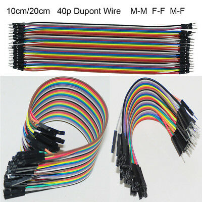 10/20cm 40p Dupont Jumper Wire Cable Connector 2.54mm M-M F-F M-F Test Line
