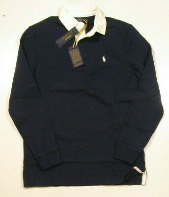 Polo Ralph Lauren Men's Navy Blue Iconic Rugby Classic Fit Polo Shirt