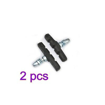 Pair Bicycle V-Brake Pads Black Rubber 70MM For Bike Cycle