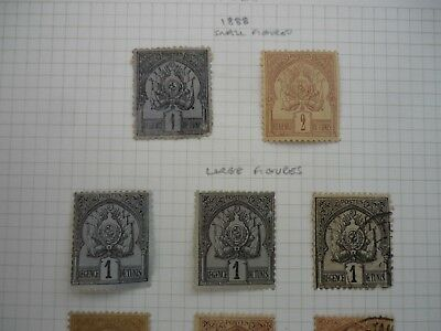 TUNISIA fine collection of early issues 1888-1910  Mint and used  ~ 53 stamps