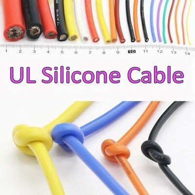 UL Silicone Cable 2/4/6/7/8/10/11/12/13/14/15/16/17/18/20/22/24/26/30AWG 0.08mm