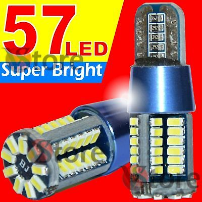 2 LED T10 Lampade Canbus 57 SMD Blue Style Luci BIANCO Xenon Super Best White