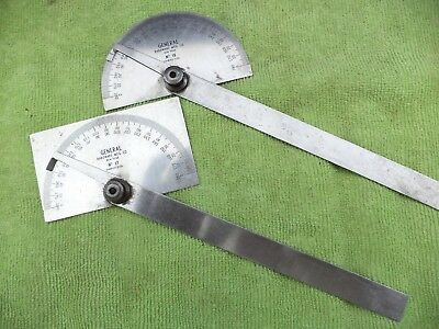 Vintage Machinist Protractor  General Hardware No. 17 and No. 18    two protract