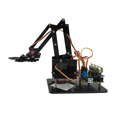 DIY 4-Dof Roatry Robot Arm 4 Servos & Circuit Kits for Arduino Science Toy