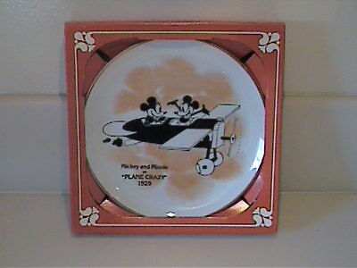 "1928's Mickey & Minnie Mouse In ""place Crazy"" Plate New In Original Box"