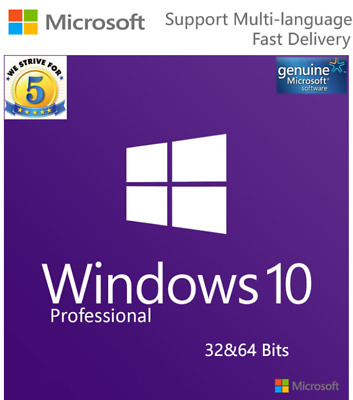 Microsoft Windows 10 Professional Activate Key Online Instant Delivery Hot