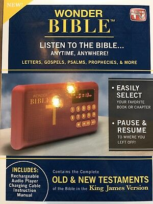 Wonder Bible Electronic Audio Player Old & New Testaments KJV NEW!